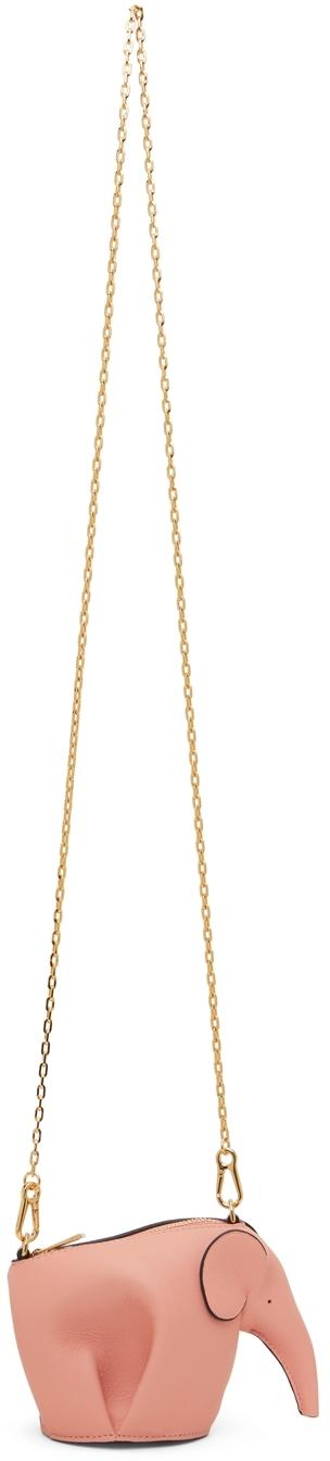 Loewe Pink Elephant Chain Bag
