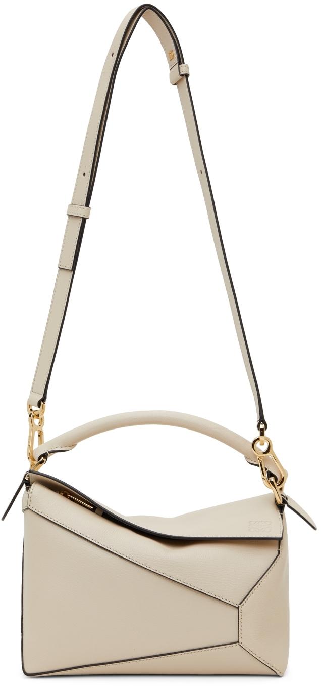 Loewe Beige Small Puzzle Edge Shoulder Bag