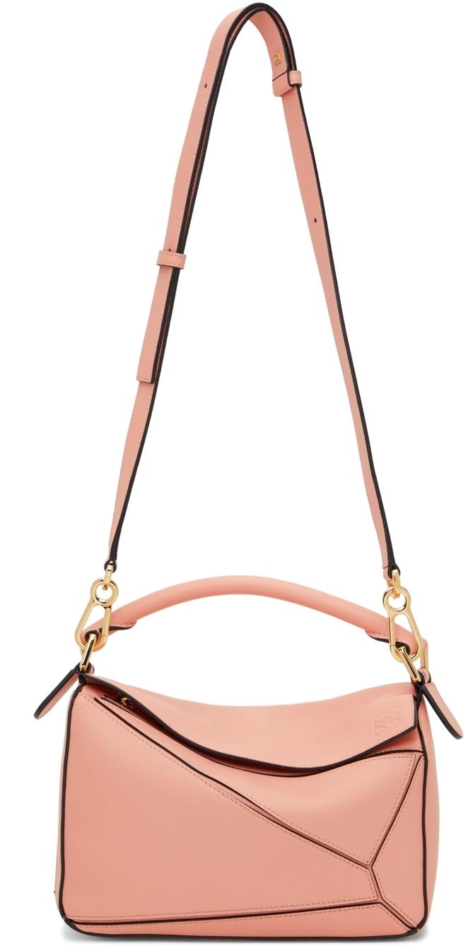 Loewe Pink Small Puzzle Edge Shoulder Bag
