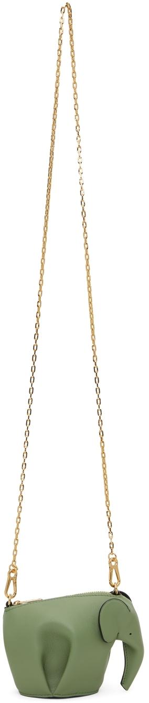Loewe Green Elephant Chain Bag