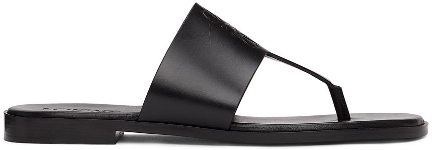 Black Anagram Flip Flops