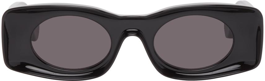 Black Paula's Ibiza Square Sunglasses