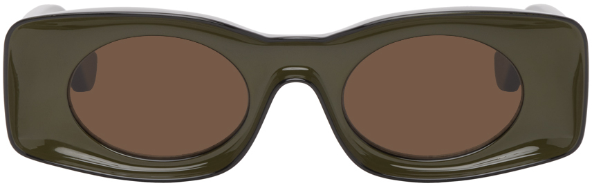 Black & Khaki Paula's Ibiza Square Sunglasses