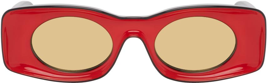 Red & Black Paula's Ibiza Square Sunglasses