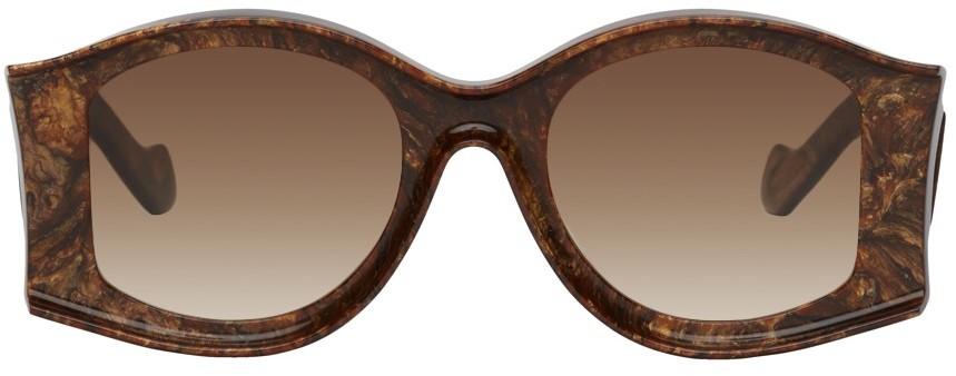 Brown Paula's Ibiza Large Sunglasses