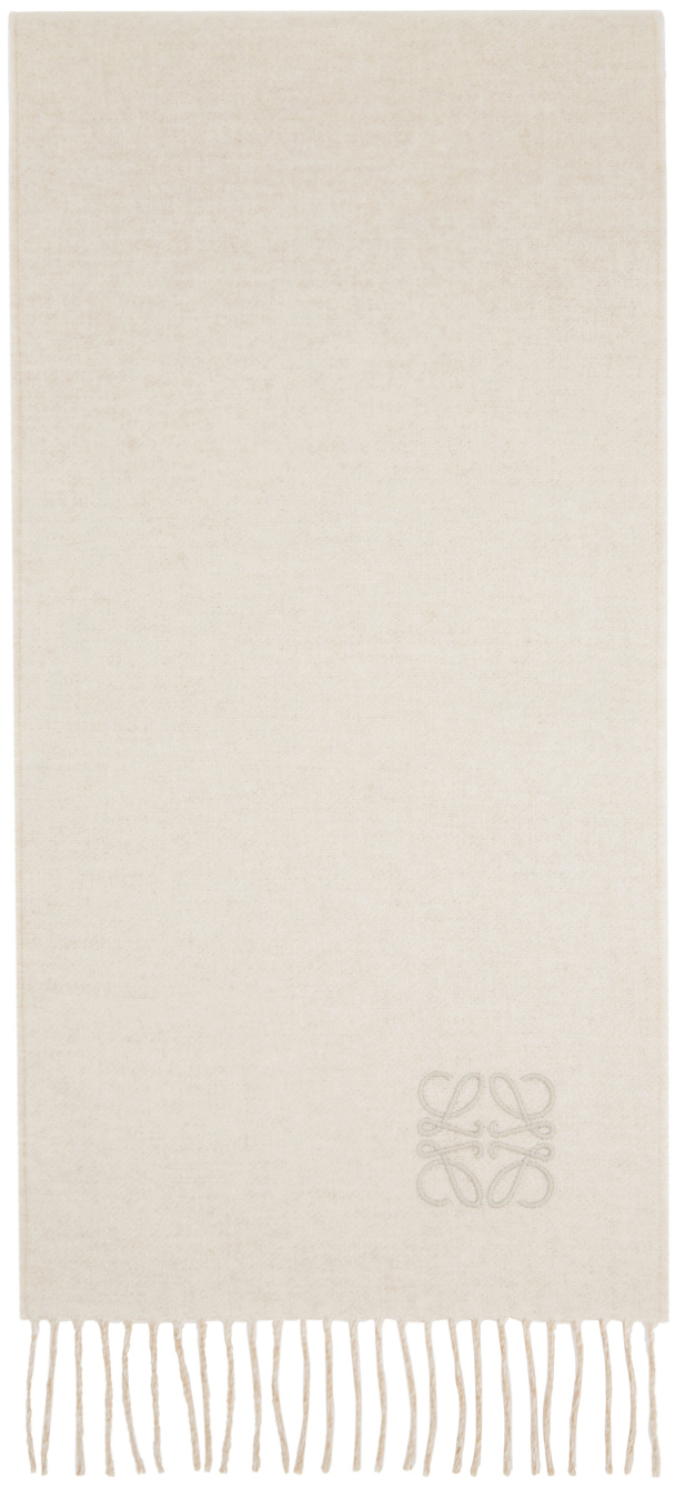 Beige & Off-White Cashmere Bicolor Scarf