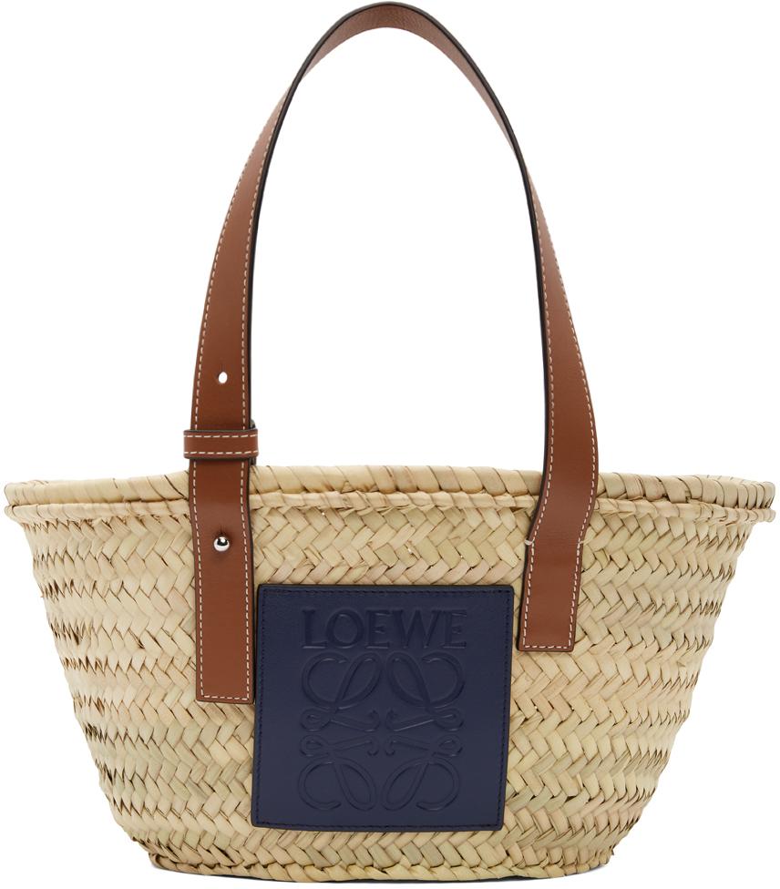 Beige Paula's Ibiza Small Basket Tote