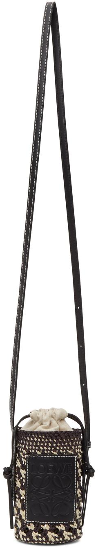 LOEWE OFF-WHITE & NAVY CYLINDER POCKET BAG