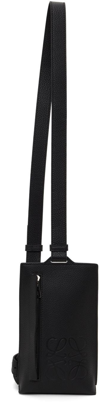 Black Vertical T Pocket Pouch