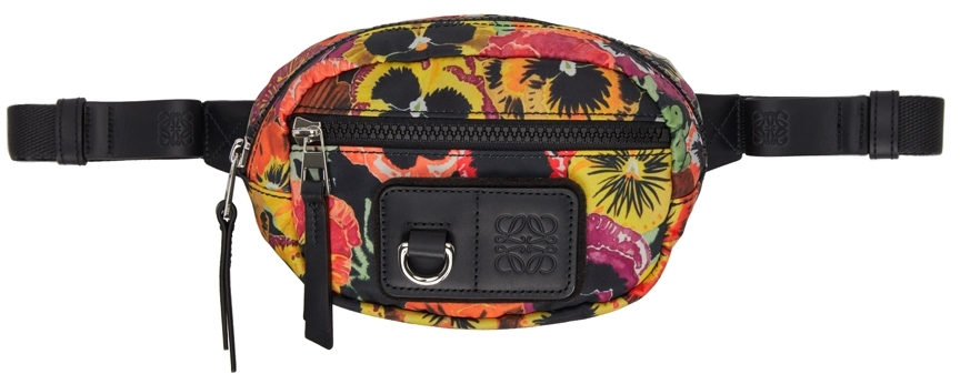 Multicolor Pansies Small Round Belt Bag
