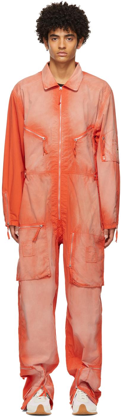 Orange Paula's Ibiza Zipped Jumpsuit