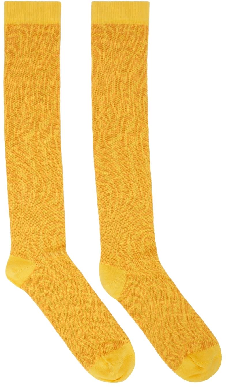 Yellow FF Vertigo Socks
