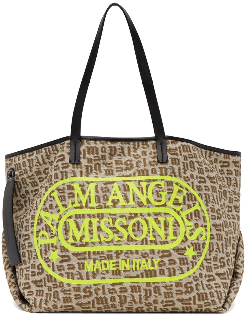 Beige Missoni Edition Monogram Cabas Tote