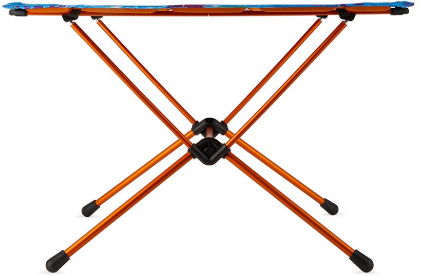 Orange Tie-Dye Large One Hard Top Table