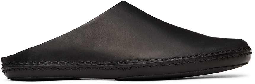 Black Outdoor Slipper Loafers