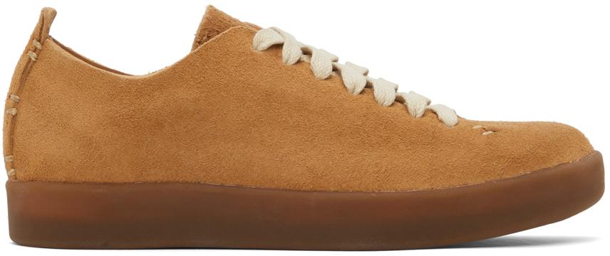 Tan Latex Low Sneakers