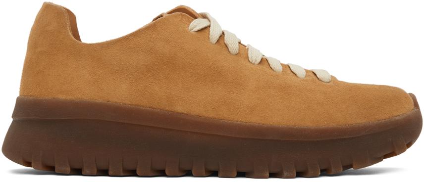 Tan Latex Walker Sneakers