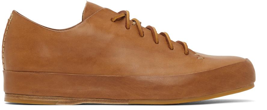 Tan Semi Cordovan Low Sneakers