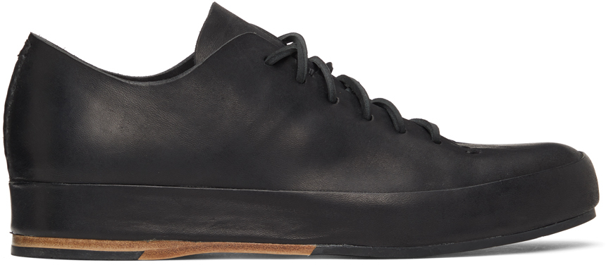 Black Hand-Sewn Low Sneakers