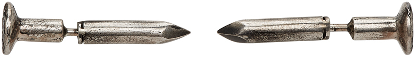 Silver Nail Earrings