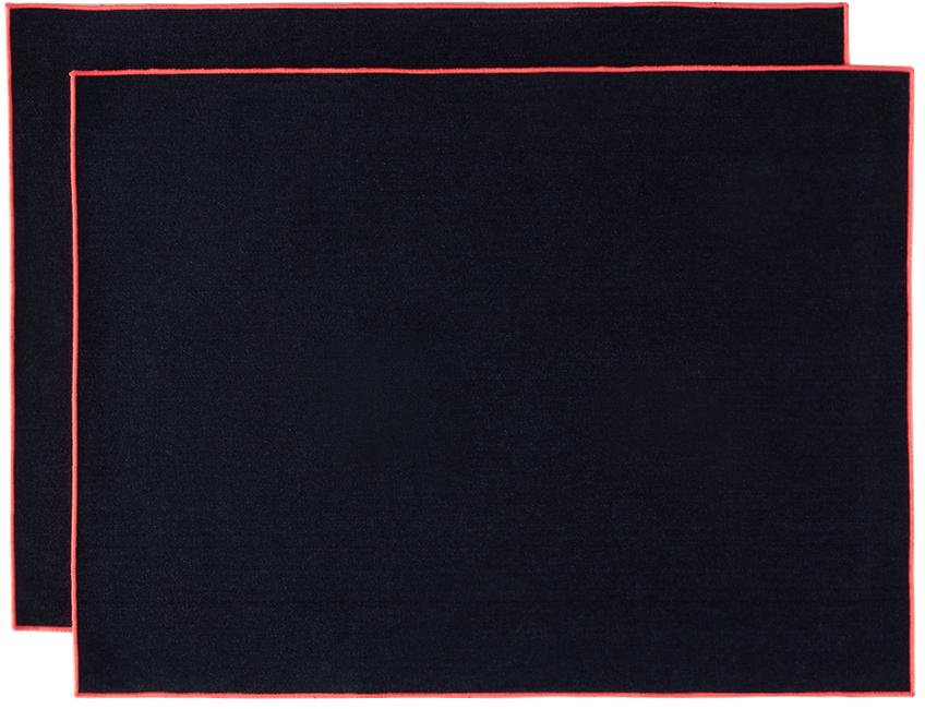 Navy Denim Frame Placemat Set