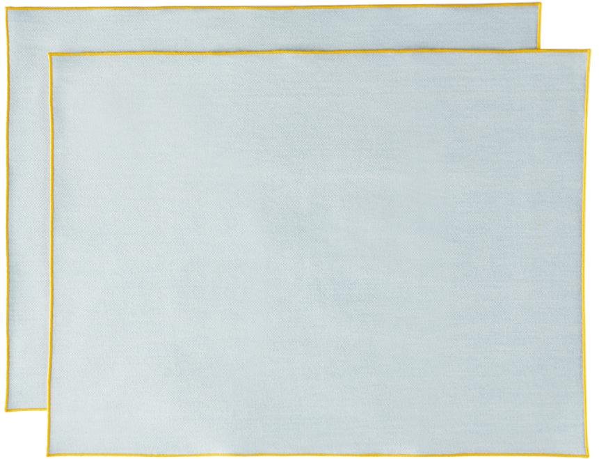 Blue Denim Frame Placemat Set