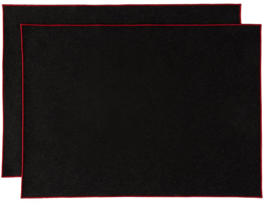 Black Denim Frame Placemat Set