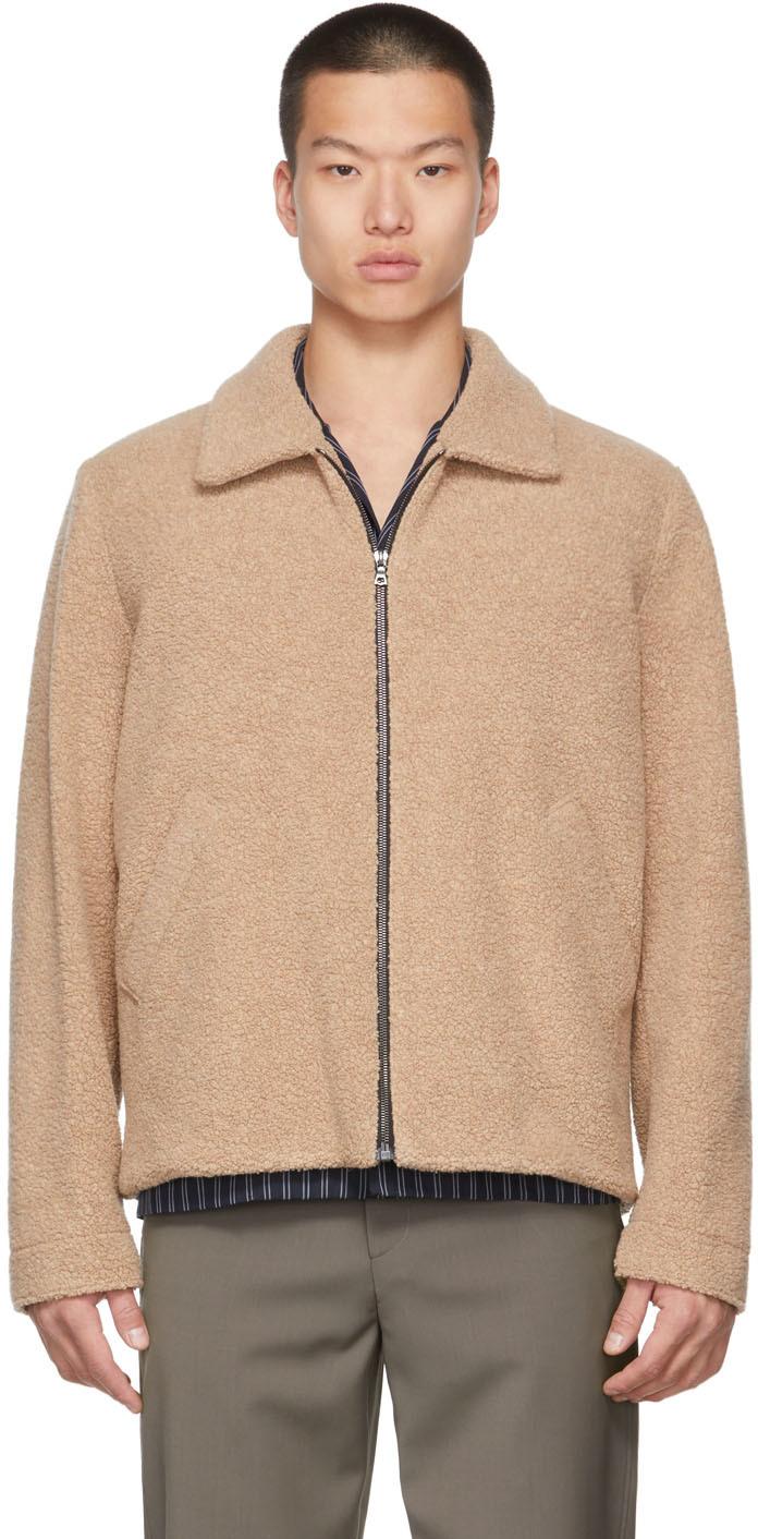 Beige Wool Golf Jacket