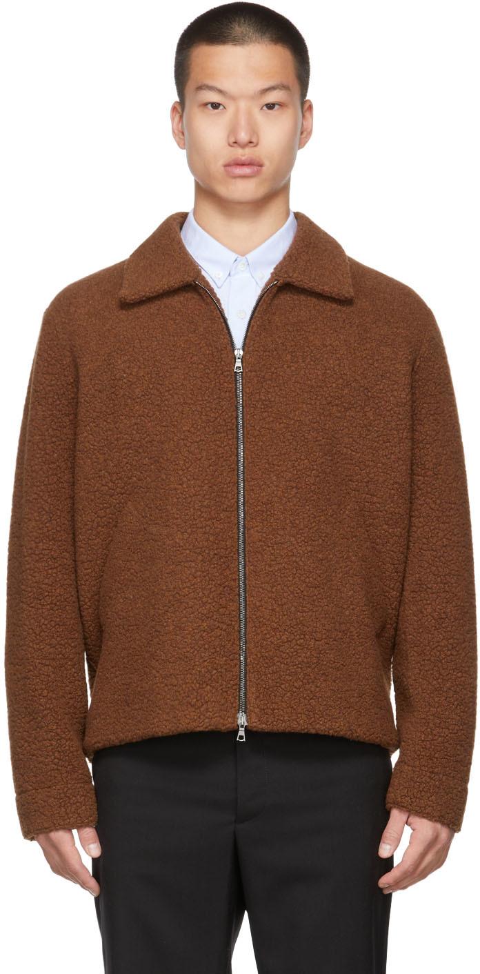 Brown Wool Golf Jacket