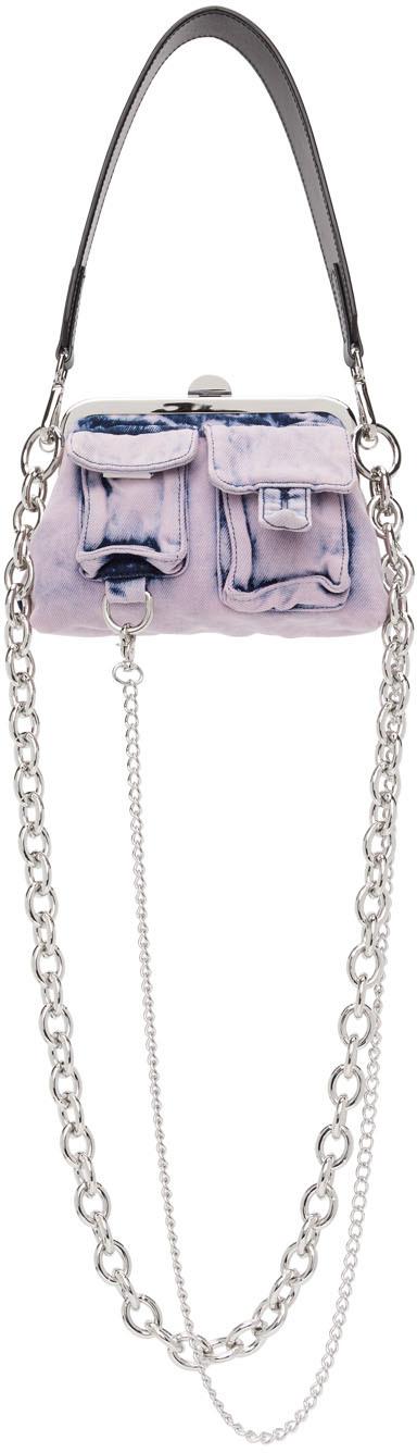 Marques Almeida Pink Denim Multipocket Bag