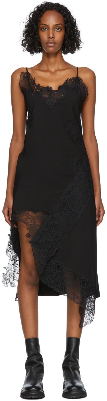 Marques Almeida SSENSE Exclusive Black Lace Slip Dress