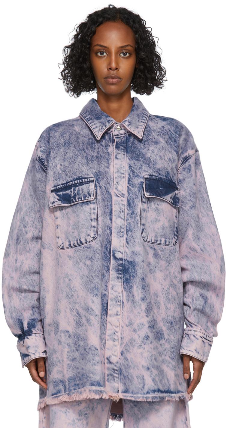 Marques Almeida Pink Tie-Dye Denim Jacket