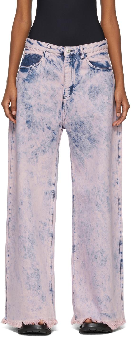 Marques Almeida Pink Tie-Dye Boyfriend Jeans