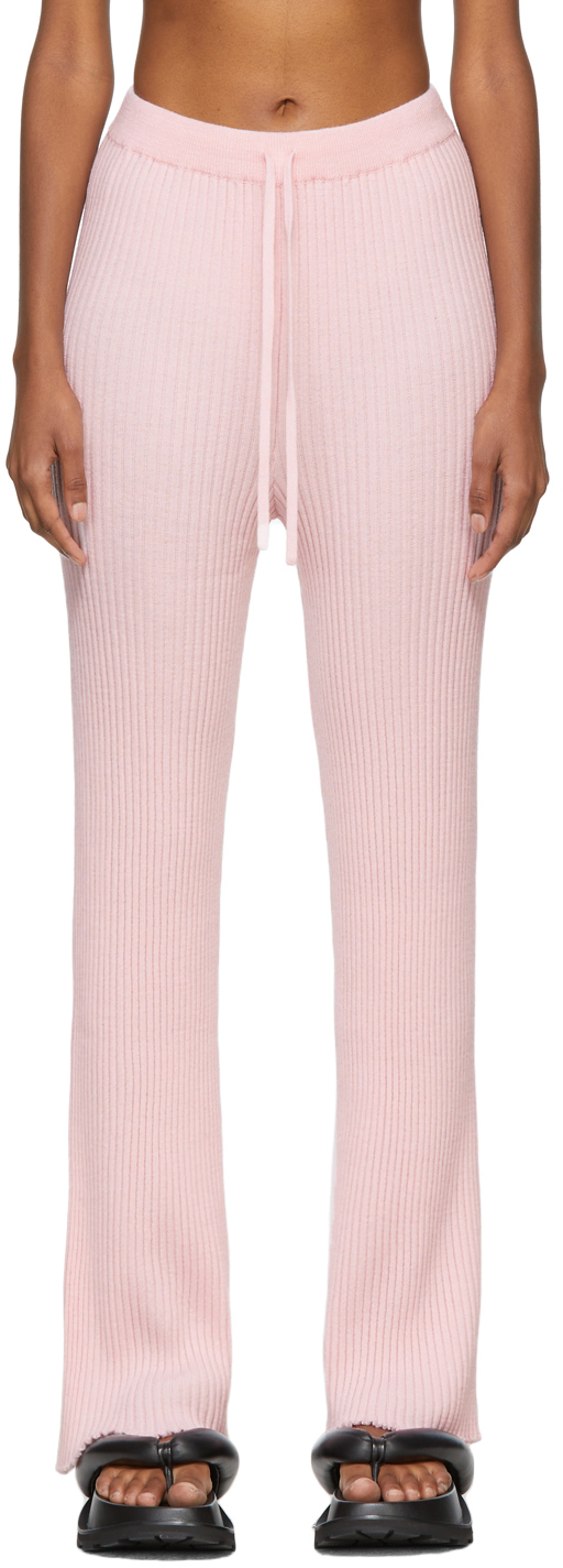 Marques Almeida Pink Knit Lounge Pants