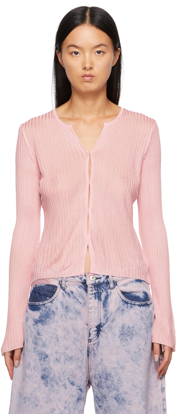 Marques Almeida Pink Fitted Cardigan