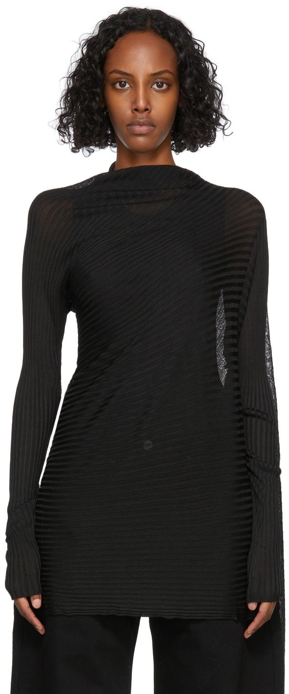 Marques Almeida Black Draped Sweatshirt