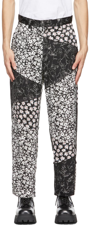 Black Slash Trousers