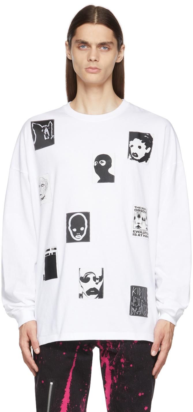 White Jesse Patch Long Sleeve T-Shirt