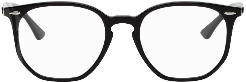 Black RB7151 Round Glasses