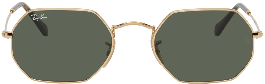 Gold Octagonal Classic Sunglasses