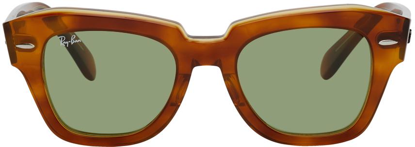 Ray-Ban 玳瑁色 State Street 太阳镜