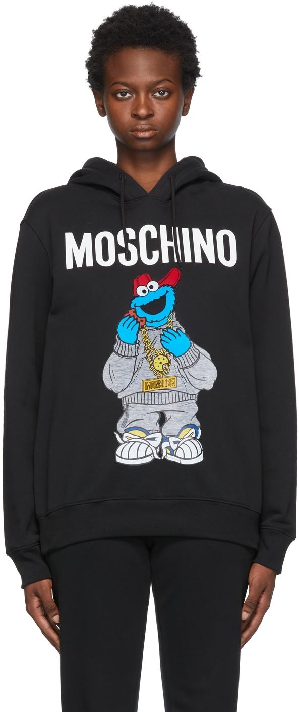 Black Sesame Street Edition Cookie Monster Hoodie
