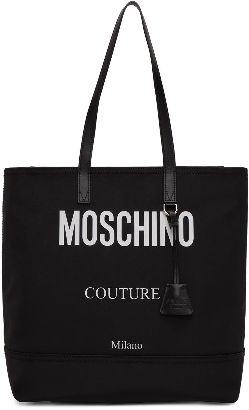 Black Canvas 'Couture!' Logo Tote
