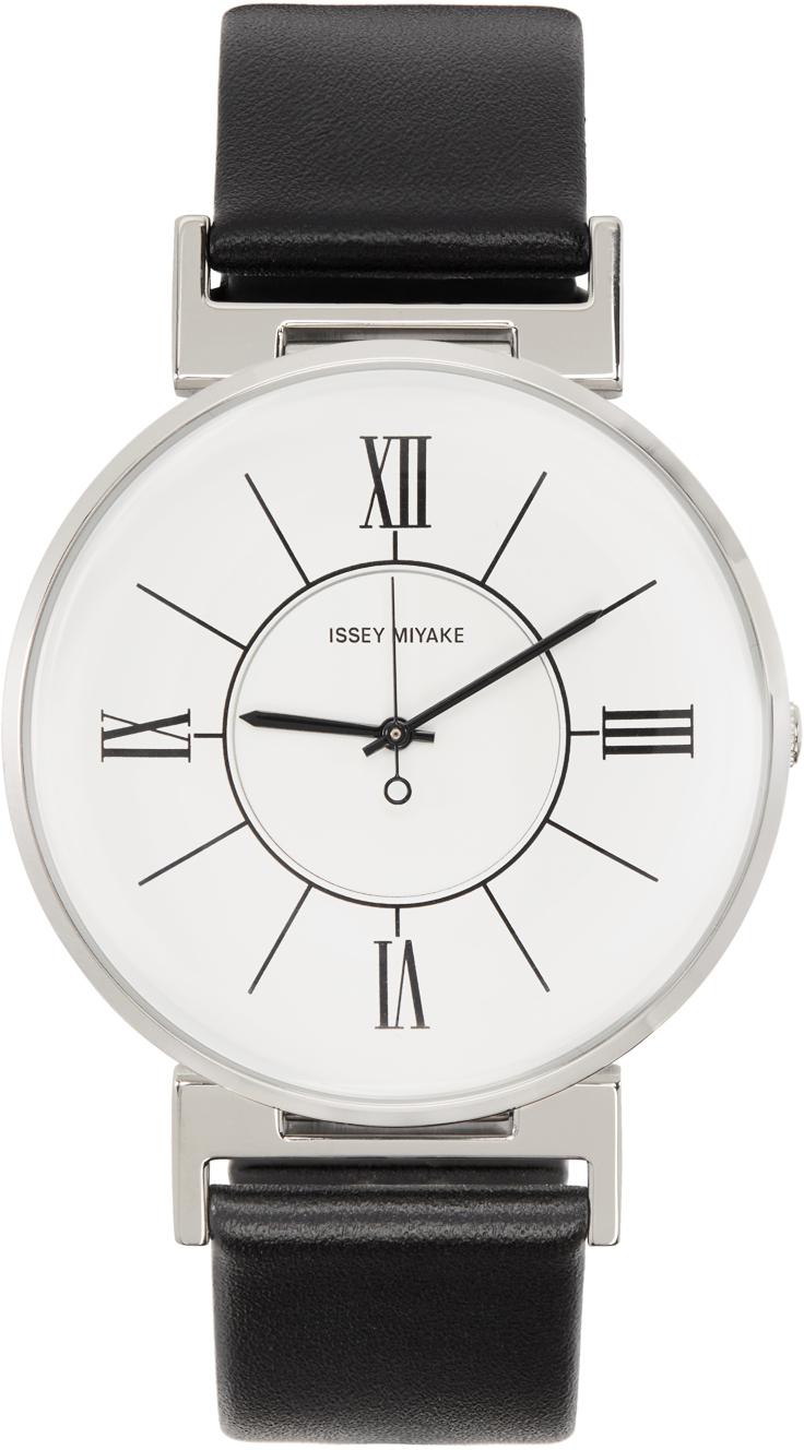 White & Black U Watch