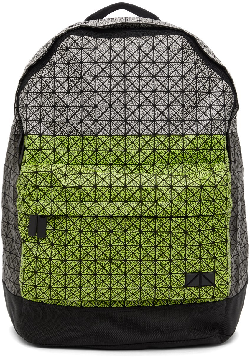 Yellow & Grey Matte Daypack Backpack