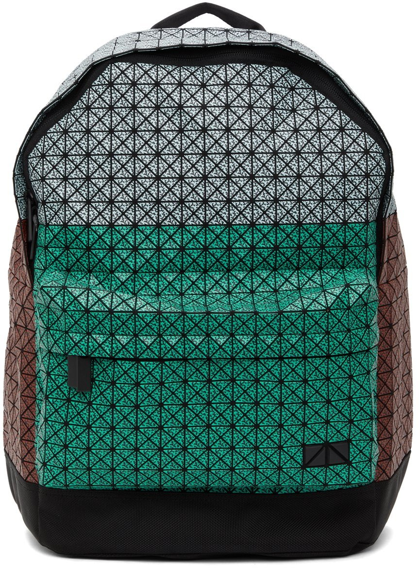 Green & Red Matte Daypack Backpack