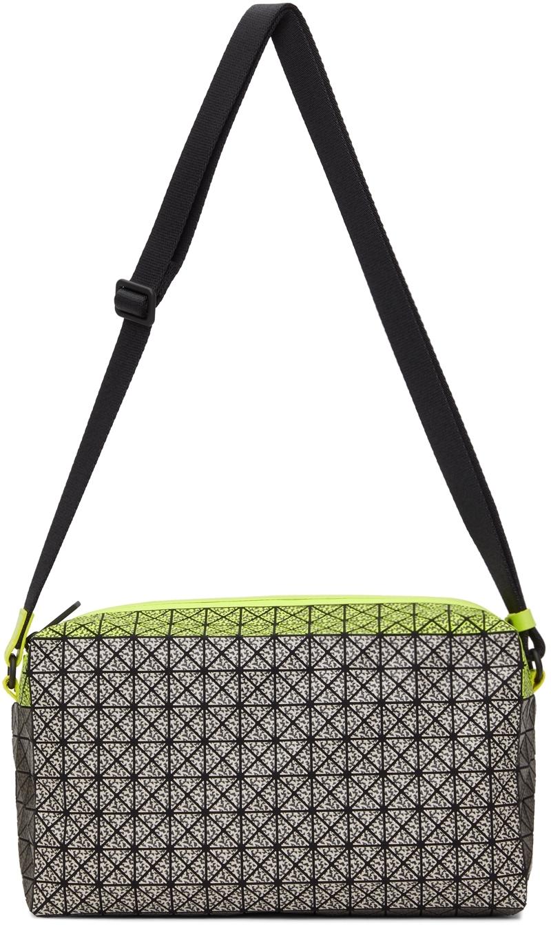 Yellow & Grey Matte Saddle Messenger Bag