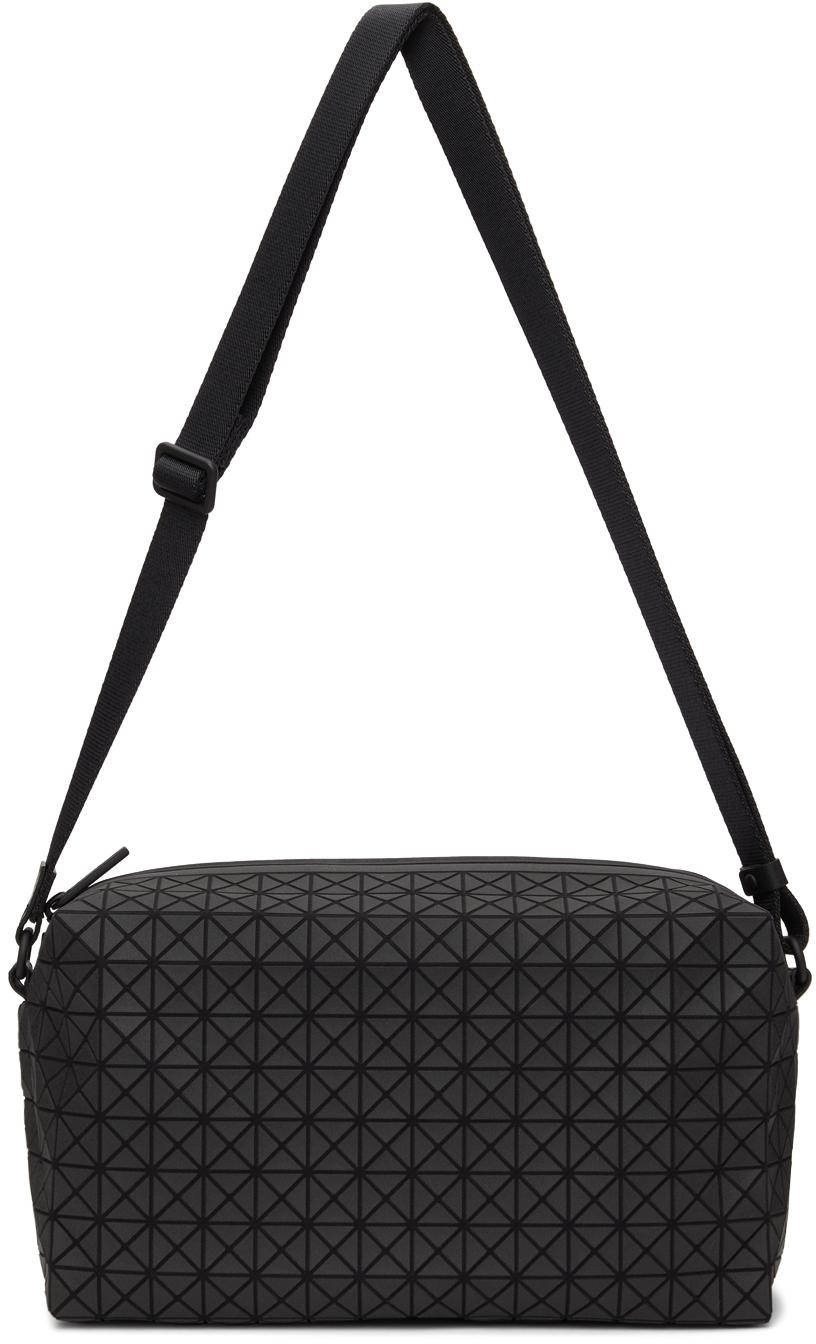 Black Matte Saddle Messenger Bag