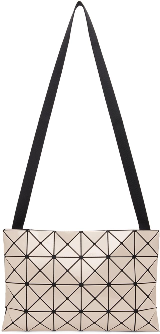 Beige Lucent Crossbody Bag
