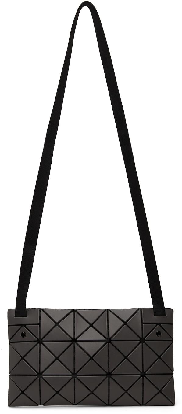 Grey Matte Lucent Crossbody Bag
